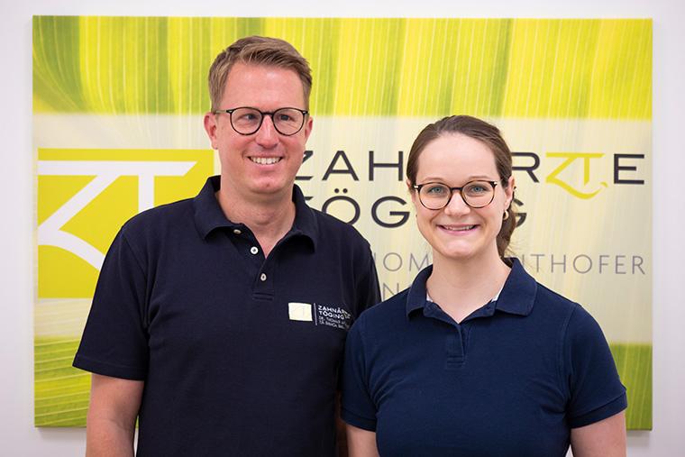 Zahnarzt Dr. Thomas Anthofer und Zahnärztin Bianca Bark
